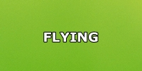 flying green button