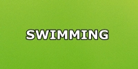 swimming green button